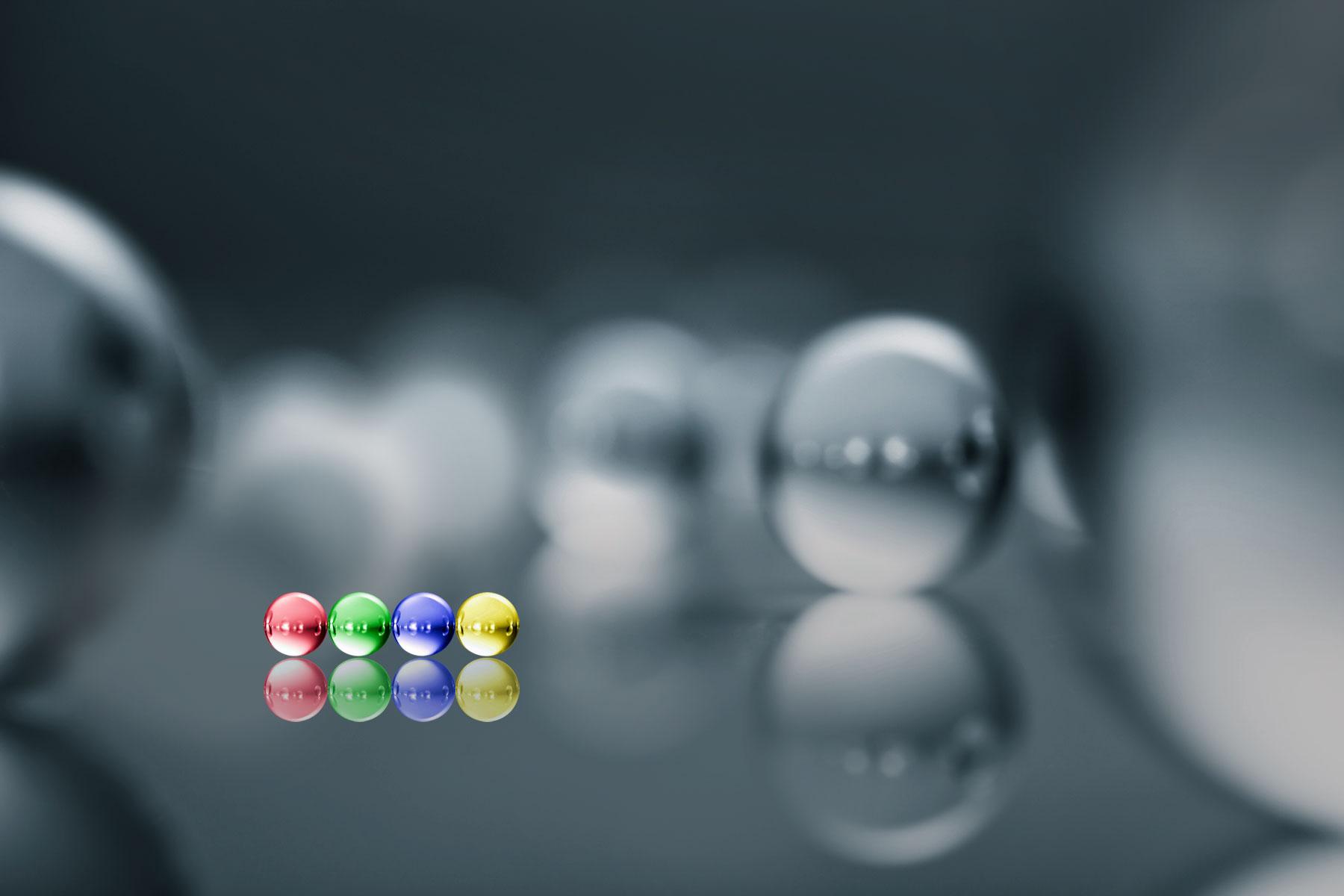 Coloured-glass-balls